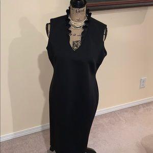 Black Calvin Klein Scuba style dress